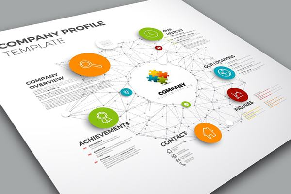 Company profile design posil consulting web solutions for Design consultancy company profile